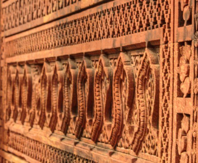 Infinity rail of textures, Qutab-minar.